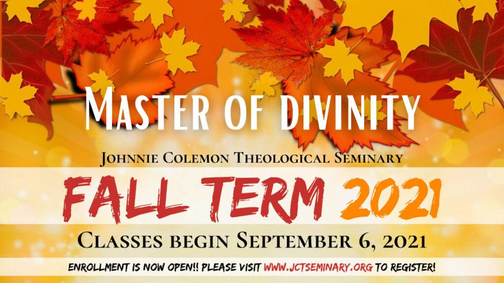 Johnnie Colemon Theological Seminary Fall 2021 Classes